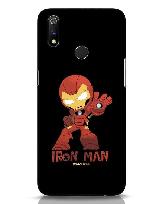Shop Iron Man Chibi Realme 3 Pro Mobile Cover (AVL)-Front
