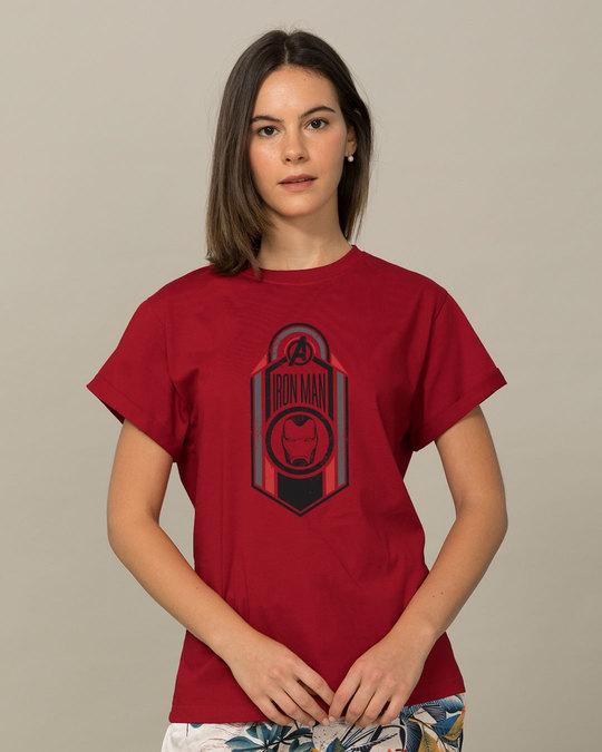 Shop Iron Man Endgame Boyfriend T-Shirt (AVEGL)-Front