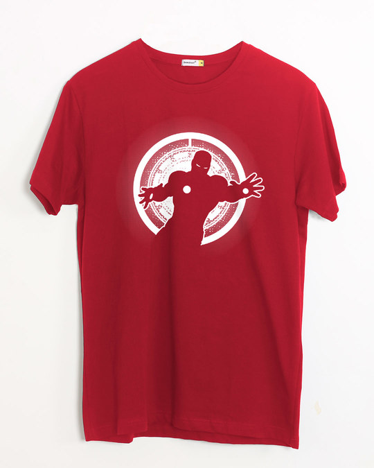Shop Iron Man Glowing Half Sleeve T-Shirt (AVL)-Front