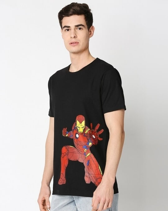 Shop Iron Man Half Sleeves T-Shirt (AVL-Design