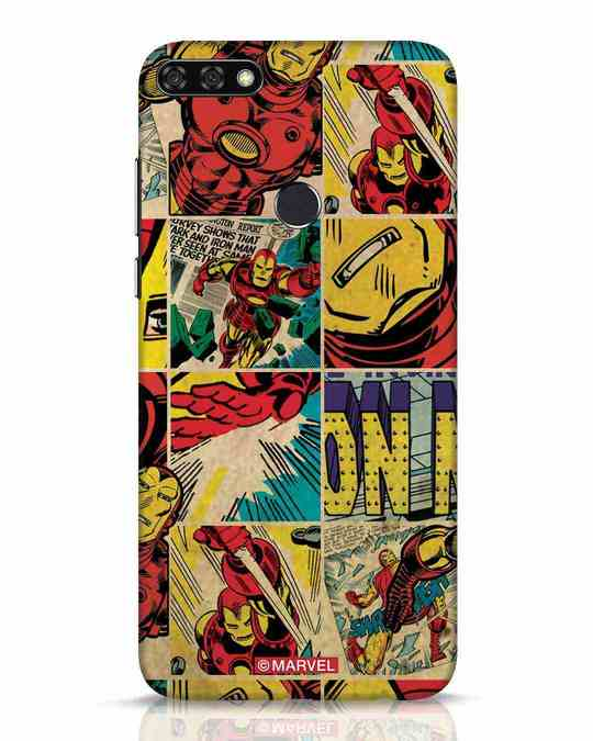 Shop Iron Man Pattern Huawei Honor 7C Mobile Cover-Front
