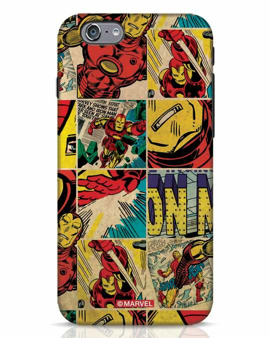 Shop Iron Man Pattern iPhone 6s Mobile Cover-Front