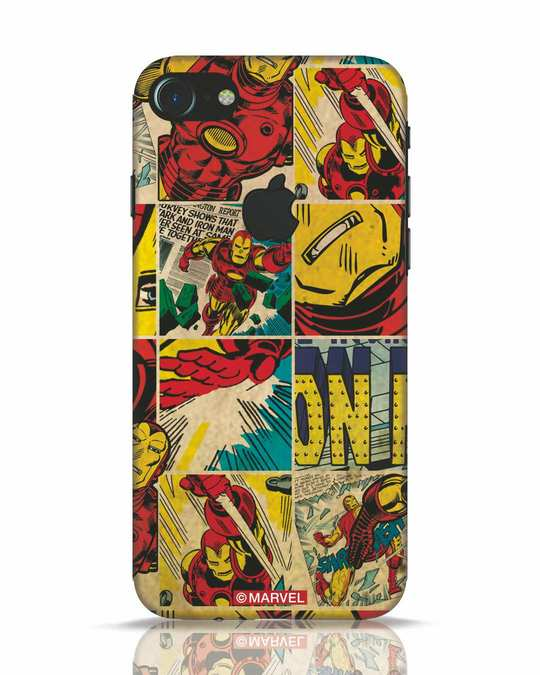 Shop Iron Man Pattern iPhone 7 Logo Cut Mobile Cover-Front