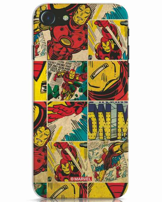 Shop Iron Man Pattern iPhone 7 Mobile Cover-Front