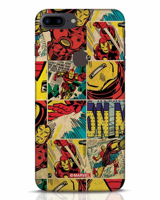 Shop Iron Man Pattern iPhone 7 Plus Logo Cut Mobile Cover-Front