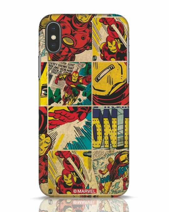 Shop Iron Man Pattern iPhone X Mobile Cover-Front