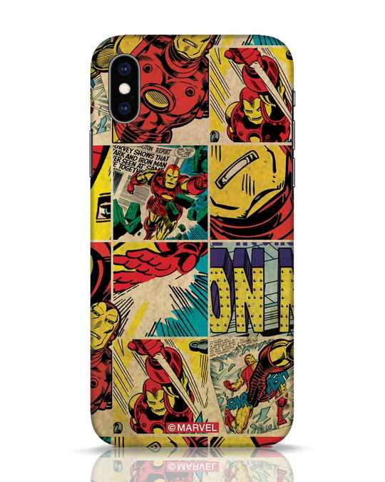 Shop Iron Man Pattern iPhone XS Mobile Cover-Front