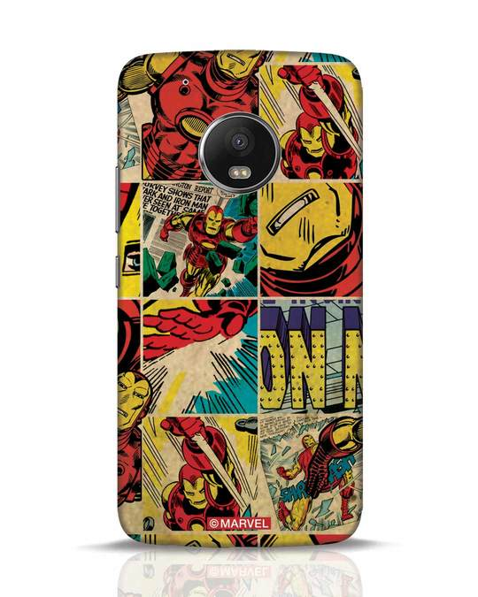 Shop Iron Man Pattern Moto G5 Plus Mobile Cover-Front