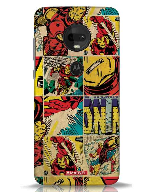 Shop Iron Man Pattern Moto G7 Mobile Cover-Front