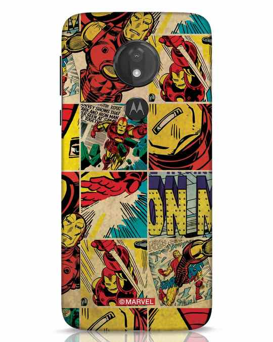 Shop Iron Man Pattern Moto G7 Power Mobile Cover-Front