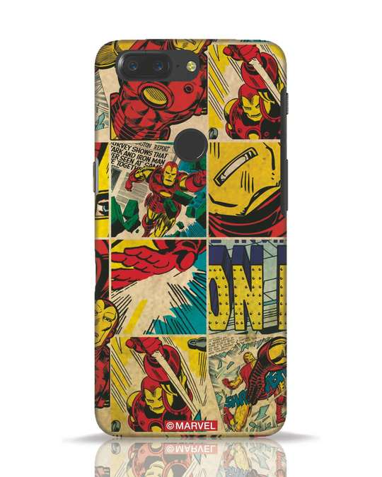 Shop Iron Man Pattern OnePlus 5T Mobile Cover-Front