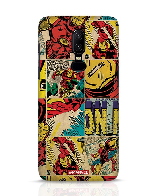 Shop Iron Man Pattern OnePlus 6 Mobile Cover-Front