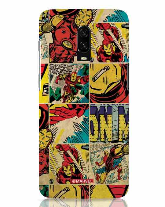 Shop Iron Man Pattern OnePlus 6T Mobile Cover-Front