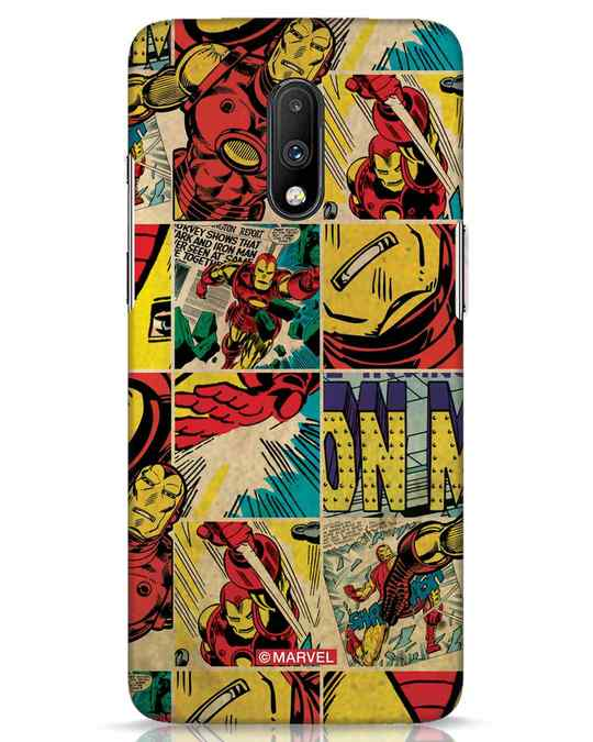 Shop Iron Man Pattern OnePlus 7 Mobile Cover-Front