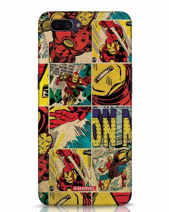 Shop Iron Man Pattern Oppo A3S Mobile Cover-Front