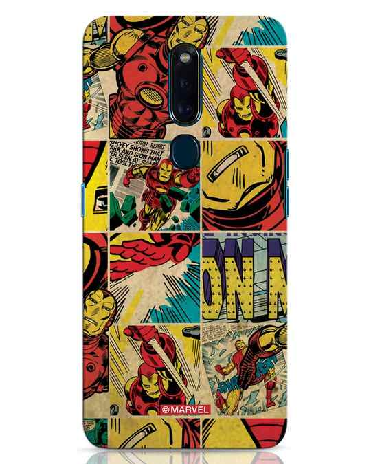 Shop Iron Man Pattern Oppo F11 Pro Mobile Cover-Front