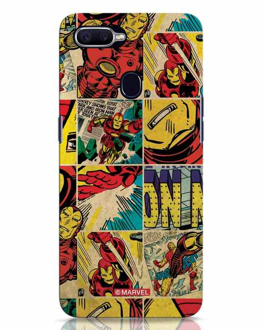 Shop Iron Man Pattern Oppo F9 Pro Mobile Cover-Front
