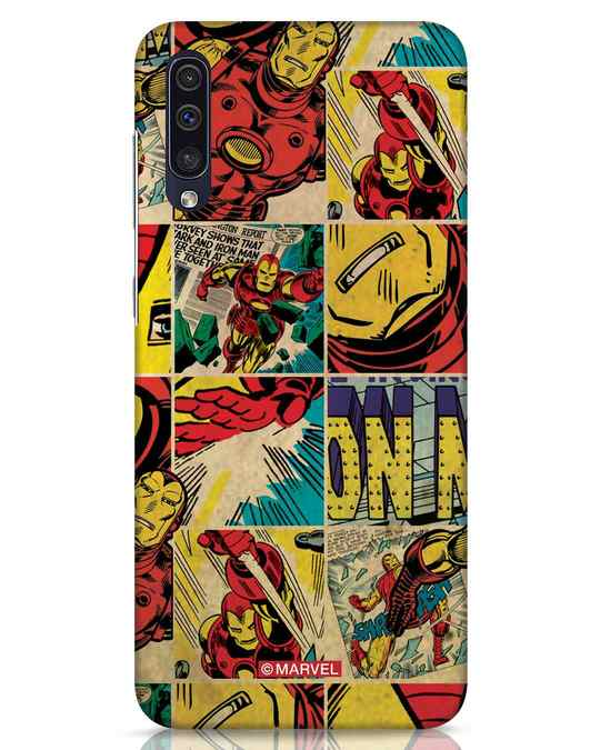 Shop Iron Man Pattern Samsung Galaxy A50 Mobile Cover-Front