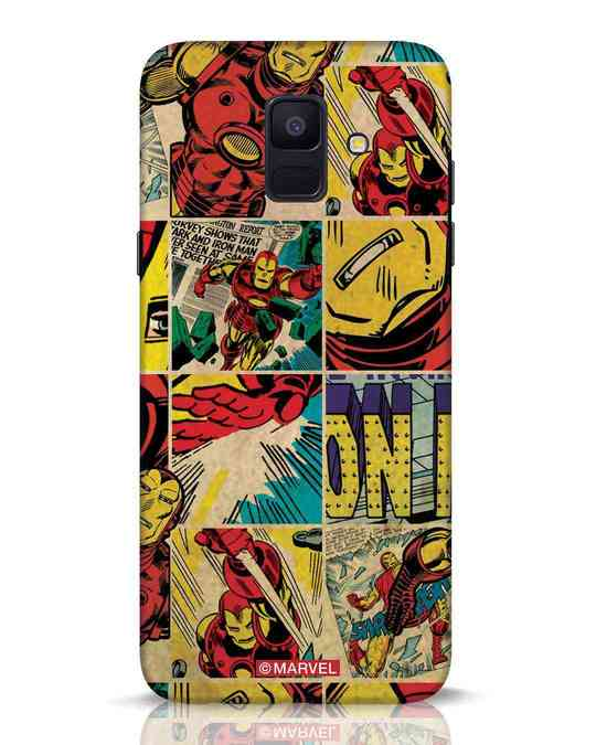 Shop Iron Man Pattern Samsung Galaxy A6 2018 Mobile Cover-Front