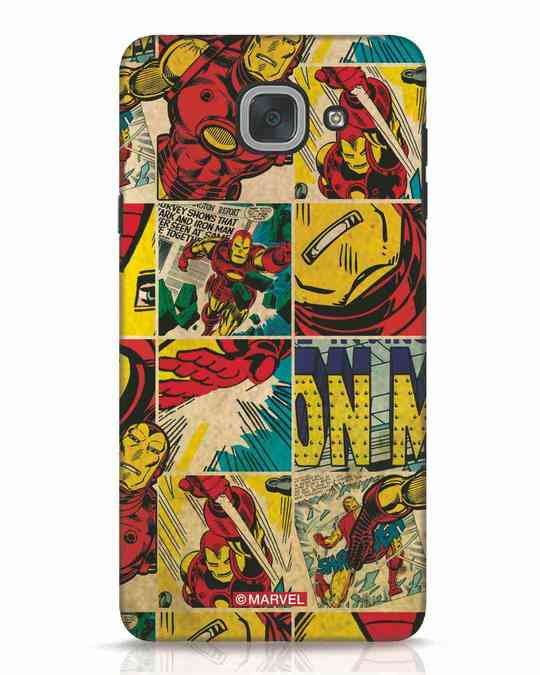 Shop Iron Man Pattern Samsung Galaxy J7 Max Mobile Cover-Front