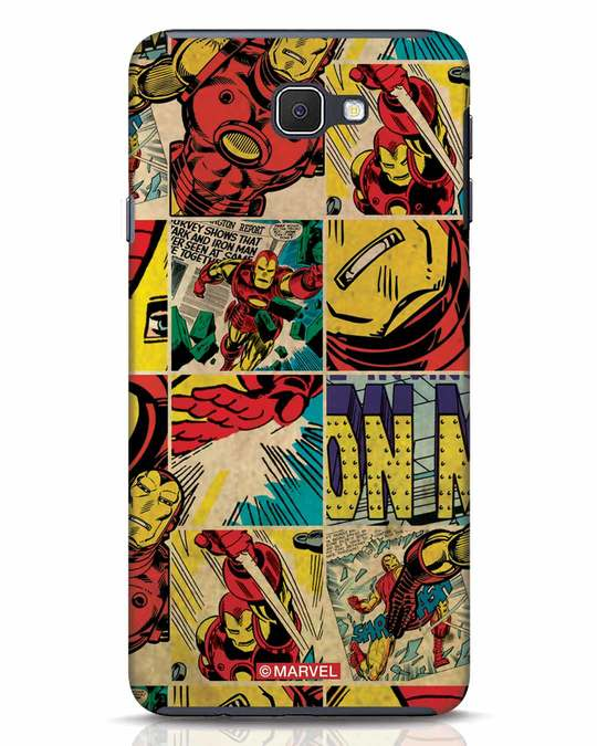 Shop Iron Man Pattern Samsung Galaxy J7 Prime Mobile Cover-Front
