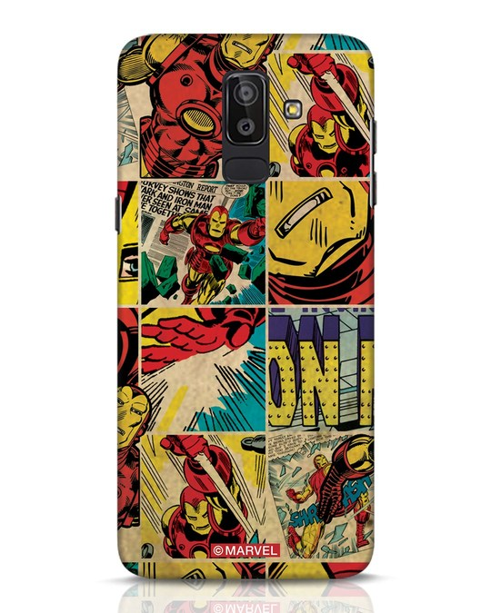 Shop Iron Man Pattern Samsung Galaxy J8 Mobile Cover-Front