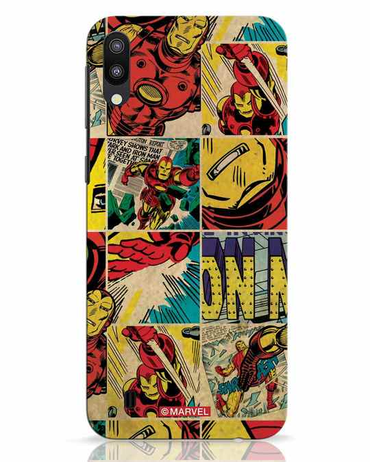 Shop Iron Man Pattern Samsung Galaxy M10 Mobile Cover-Front