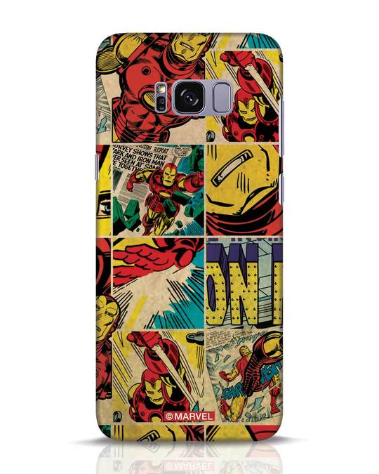 Shop Iron Man Pattern Samsung Galaxy S8 Plus Mobile Cover-Front