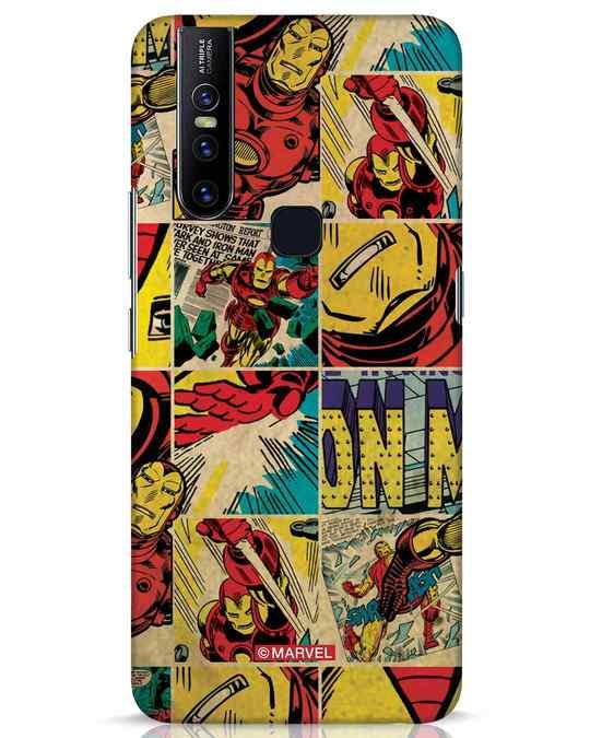 Shop Iron Man Pattern Vivo V15 Mobile Cover-Front