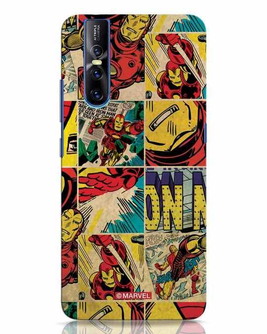 Shop Iron Man Pattern Vivo V15 Pro Mobile Cover-Front