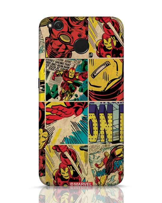 Shop Iron Man Pattern Xiaomi Redmi 4 Mobile Cover-Front