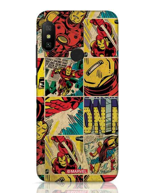 Shop Iron Man Pattern Xiaomi Redmi 6 Pro Mobile Cover-Front