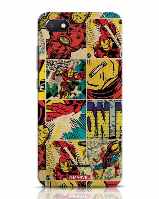 Shop Iron Man Pattern Xiaomi Redmi 6A Mobile Cover-Front
