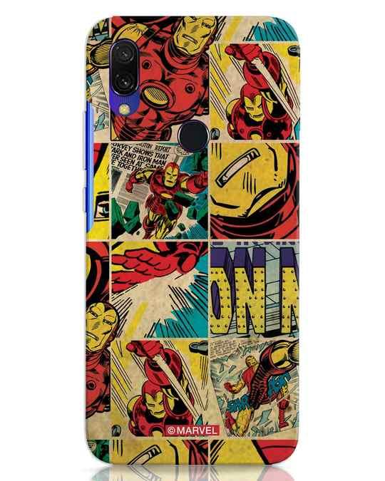 Shop Iron Man Pattern Xiaomi Redmi 7 Mobile Cover-Front