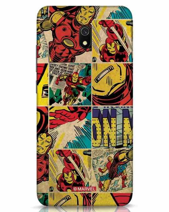 Shop Iron Man Pattern Xiaomi Redmi 8A Mobile Cover-Front