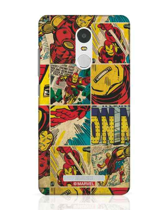 Shop Iron Man Pattern Xiaomi Redmi Note 3 Mobile Cover-Front