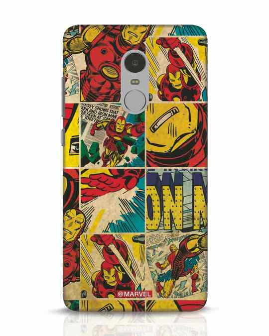 Shop Iron Man Pattern Xiaomi Redmi Note 4 Mobile Cover-Front