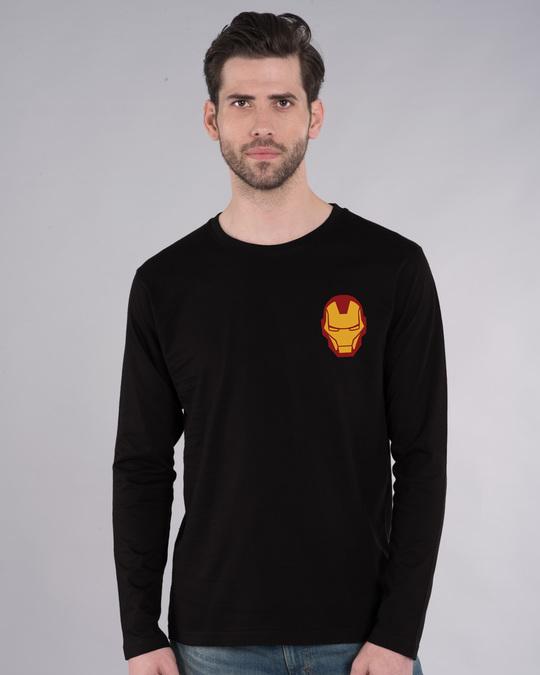 Shop Iron Man Printed Badge Full Sleeve T-Shirt (AVL)-Back