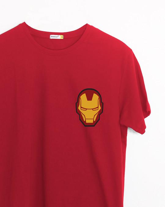Shop Iron Man Printed Badge Half Sleeve T-Shirt (AVL)-Front