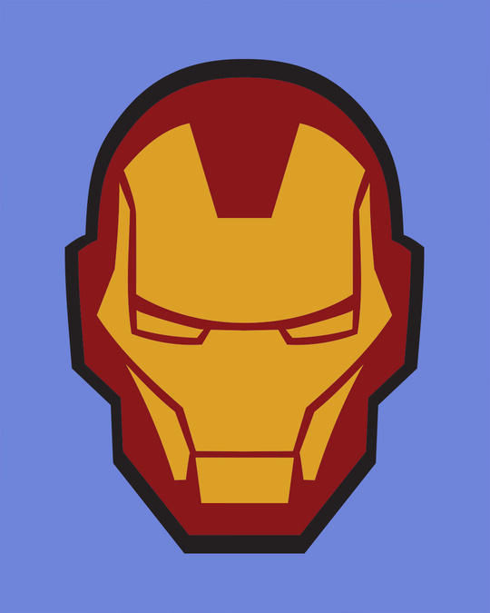 Shop Iron Man Printed Badge Half Sleeve T-Shirt (AVL)