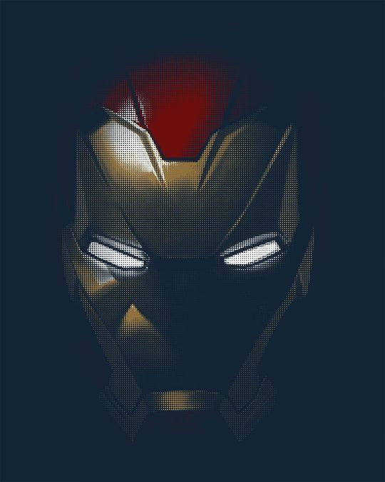 Shop Iron Man Shadows Full Sleeve T-Shirt (AVL)