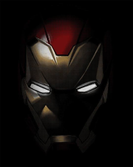 Shop Iron Man Shadows Half Sleeve T-Shirt (AVL)