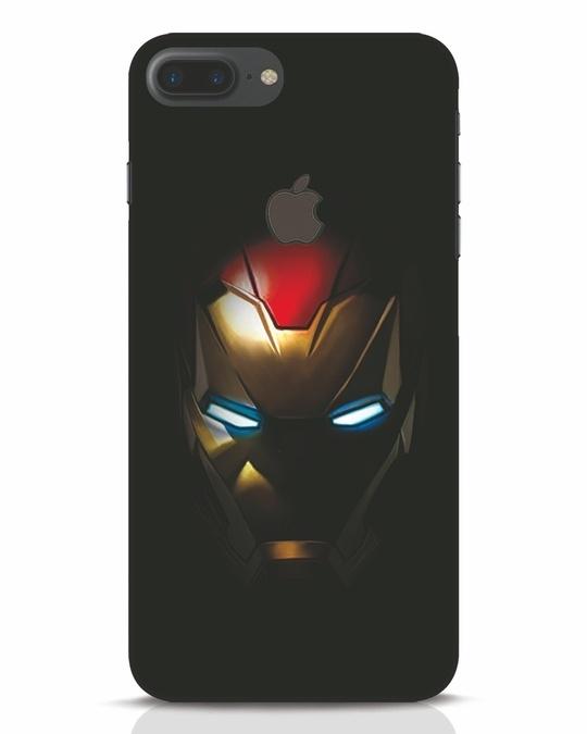 Shop Iron Man Shadows iPhone 7 Plus Logo Cut Mobile Cover-Front