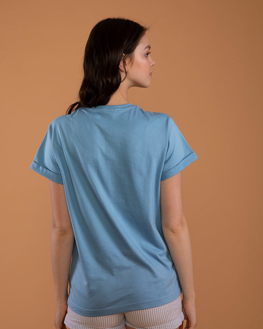 Shop Island Blue Boyfriend T-Shirt-Full