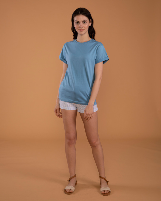 Shop Island Blue Boyfriend T-Shirt