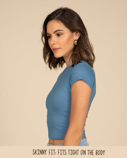 Shop Island Blue Crop Top-Back