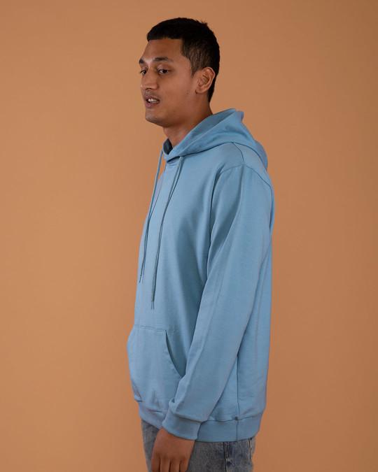 Shop Island Blue Fleece Hoodies-Back