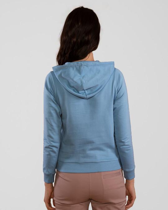 Shop Island Blue Fleece Hoodies-Full