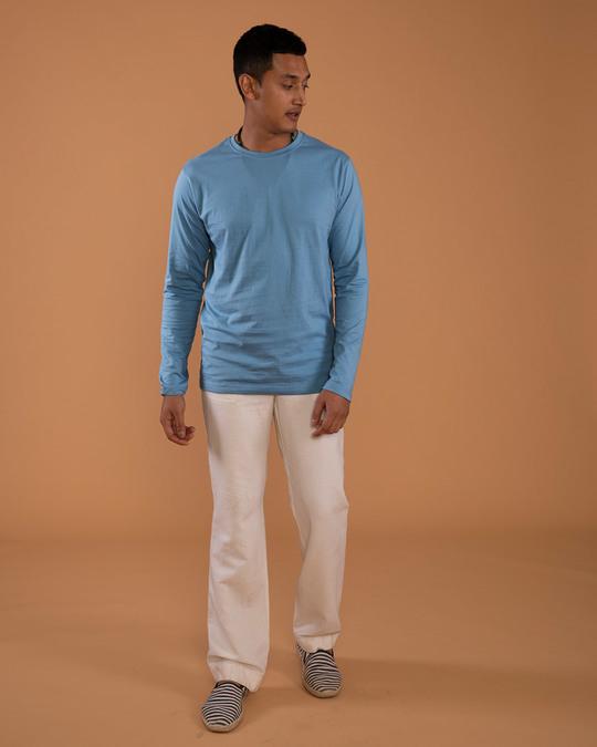 Shop Island Blue Full Sleeve T-Shirt