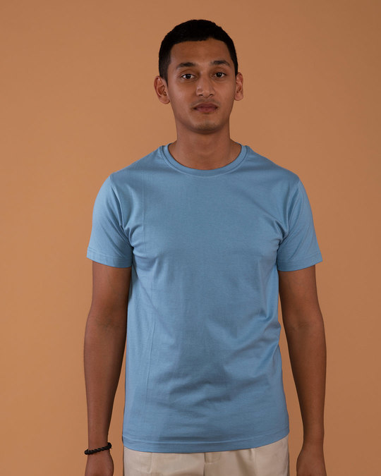 Shop Island Blue Half Sleeve T-Shirt-Front